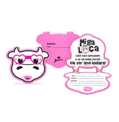 Convite - Miga Sua Loca - 08 unidades