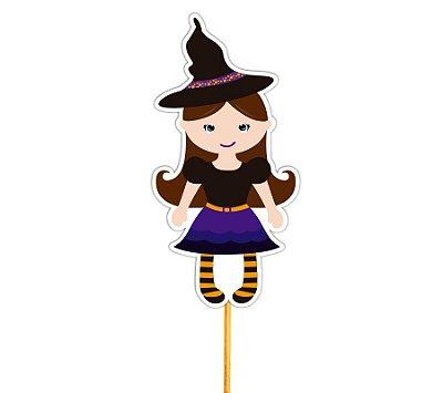 Enfeite Para Cupcake Bruxa Halloween - 12 unidades