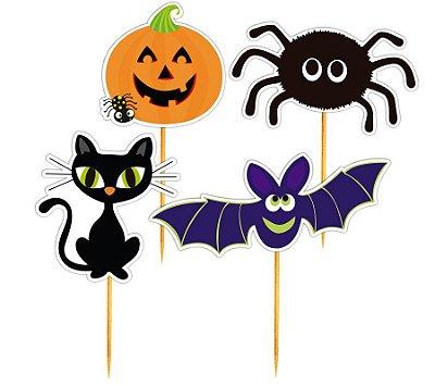 Enfeite Para Cupcake Adereços Halloween - 12 unidades