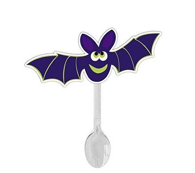 Colher para Brigadeiro Morcego Halloween - 12 unidades