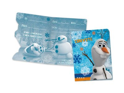 Kit Convite - Olaf - 04 pacotes