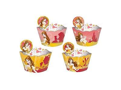 Saia para Cupcake - Bela - 12 unidades