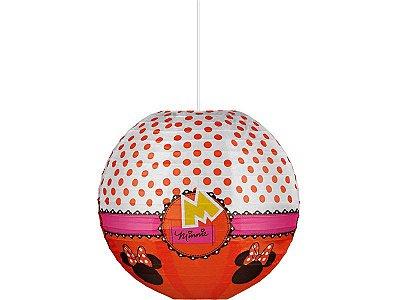 Lanterna de Papel 30cm - Minnie  Vermelha