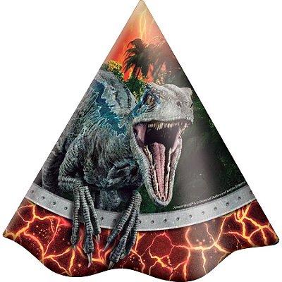 Chapéu de Aniversário - Jurassic World - 08 unidades