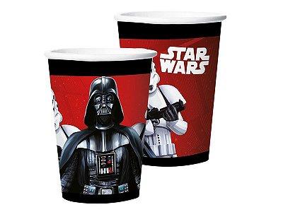 Copo de Papel 180ml - Star Wars  Clássico - 08 unidades