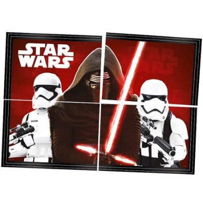Painel 4 Folhas - Star Wars - Brilha no Escuro