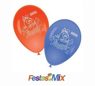 Balão Latex  9 Polegadas - Galinha Pintadinha - 25 unidades