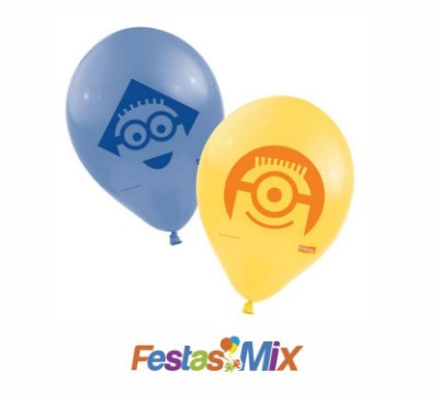 Balão Látex n° 9 - Minions - 25 Unidades