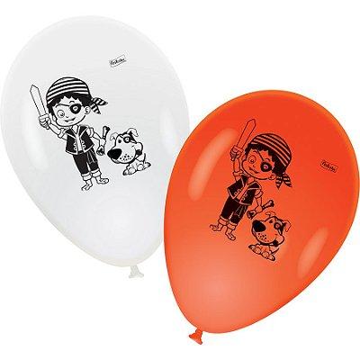 Balão Látex N° 9 Polegadas Piratas