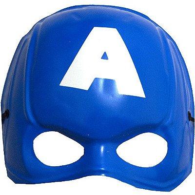 Máscara Plástica - Meio Rosto -  Capitão América