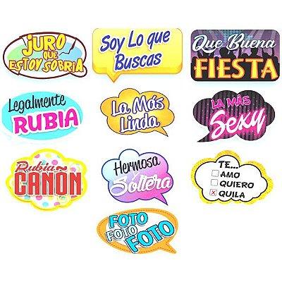 Plaquinhas divertidas para Festa em Espanhol