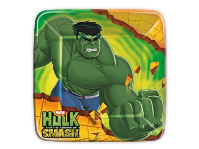 Prato de papel Hulk Smash - 8 unidades