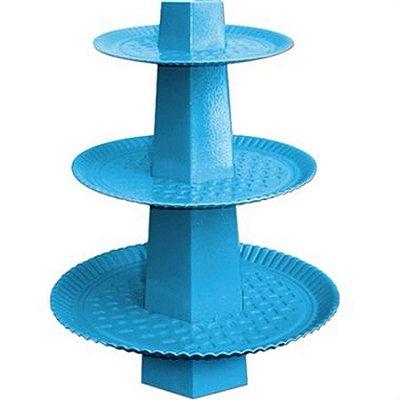 Baleiro 3 Andares - Azul Claro