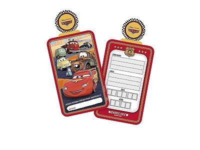 Convite de Aniversário Cars