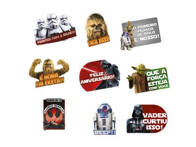 Plaquinhas do Star Wars - 9 unidades