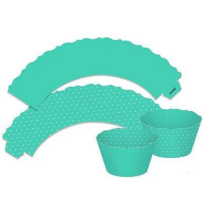 Saia para Cupcake  Dupla Face - Tiffany - 12 unidades