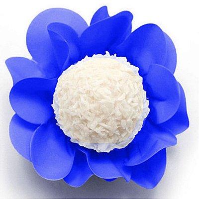 Porta Forminha Flor Azul Escuro