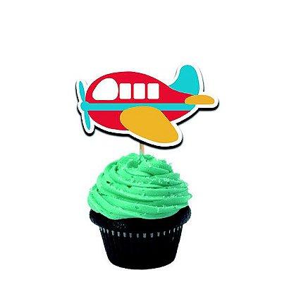 Topper para doces Aviãozinho com 12 und
