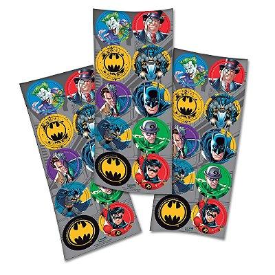Adesivo Redondo Decorativo - Batman New - 03 cartelas