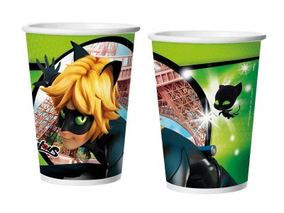 Copo de Papel 180ml - Cat Noir - 08 unidades