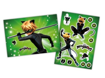 Kit Decorativo  Cartonado Ladybug Cat Noir