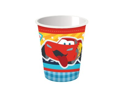 Copo de Papel Cars Disney Junior - 08 unidades