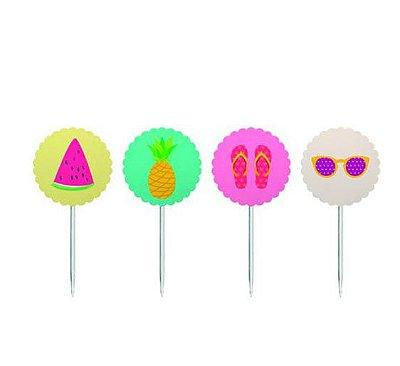 Topper para doces Festa Tropical com 08 und