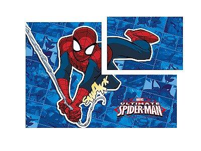 Painel 4 Folhas Decorativo Spider Quadrinhos