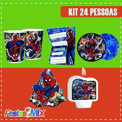 Kit Festa Homem Aranha Quadrinhos 24 pessoas