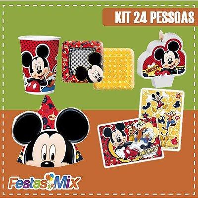 Kit Festa Mickey Mouse - 24 pessoas