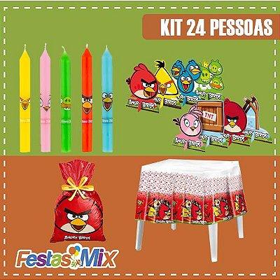 Kit Festa Angry Birds  - 24 Pessoas