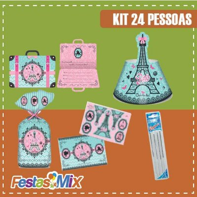 Kit Festa Paris - 24 pessoas