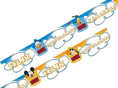 Faixa Feliz Aniversário Mickey Diversão