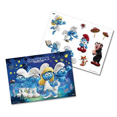 Kit Decorativo Cartonado -Os Smurfs