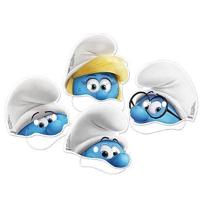 Máscaras Smurfs - 08 unidades