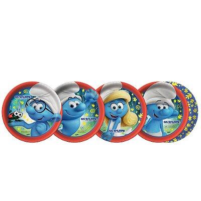 Prato redondo Os Smurfs - 08 unidades
