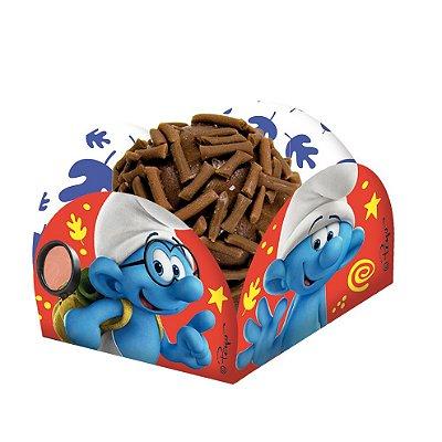 Porta Forminha para doces Os Smurfs