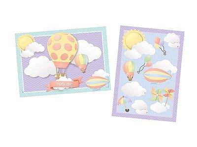 Kit Cartonado para Decoração de Parede Nuvem