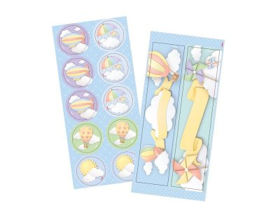 Adesivo para lembrança Nuvem - 4 cartelas