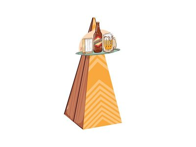 Cone com Aplique de Boteco - 08 unid