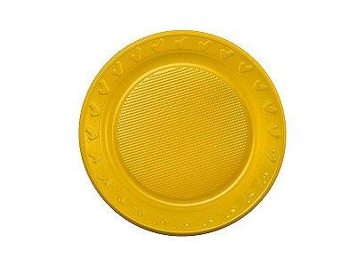 Prato Descartável - Amarelo - 15cm