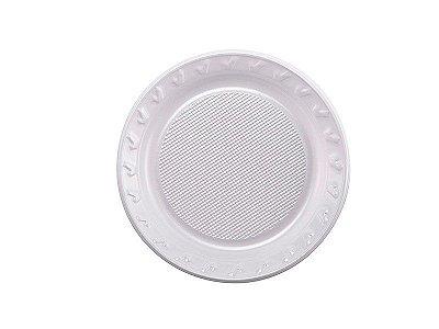 Prato Descartável - Branco - 15 cm