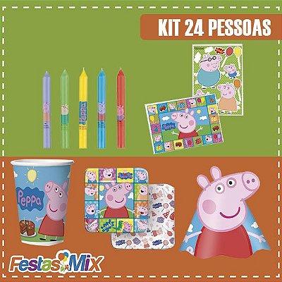 Kit Festa Peppa Pig  - 24 Pessoas