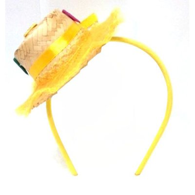 Tiara Chapéu de Palha Junina - 01 unidade