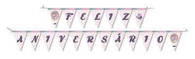 Faixa Feliz Aniversario - Unicórnio Magic