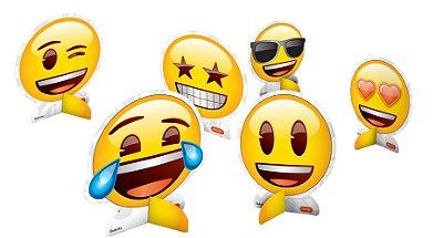 Decoração de Mesa - Emoji - 08 unidades