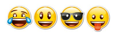 Máscara Emoji - 08 unidades
