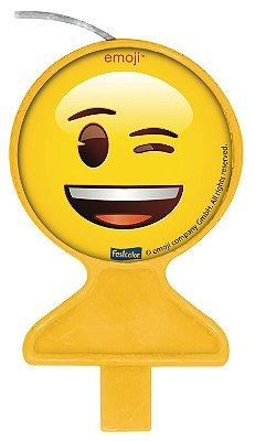 Vela de aniversário Plana - Emoji