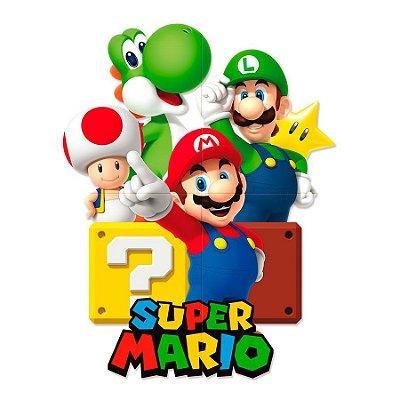 Painel Gigante Decorativo Super Mario Bross