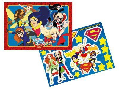 Kit Decorativo de Parede  Super Hero Girl